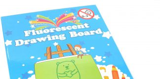 Fluorescent Drawing Board - recenzie - výsledok - gél
